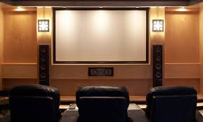 home theatre sophisticated theater design idea with elegant beige wall room including three dark brown sofa appealing design ideas home