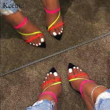 Kcenid Summer new slippers sexy <b>2019</b> fashion sandals women ...