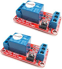 HiLetgo <b>2PCS 5V 1 Channel</b> Relay Module with optocoupler ...