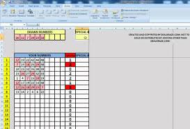 easy lottery number ticket checker lotto pick for microsoft easy lottery number ticket checker lotto pick 6 for microsoft excel or open office spreadsheet