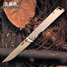 <b>SanRenMu</b> 9165 Pocket Folding Knife Fold 12C27 Steel Rescue ...