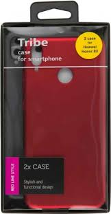 <b>Набор чехлов Tribe</b> Honor 8X пластик+пластик Black/Red - цена ...