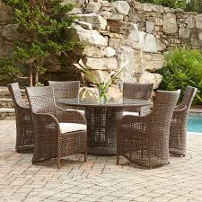 brown wicker outdoor furniture dresses: woven vinyl   woven vinyl