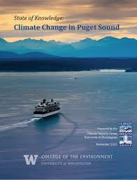 state of knowledge climate change in puget sound encyclopedia report cover for state of knowledge climate change in puget sound