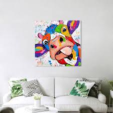 2019 <b>HDARTISAN Vrolijk Schilderij Wall</b> Art Animal Picture Canvas ...