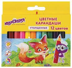 <b>Юнландия Карандаши цветные</b> Малыши-<b>карандаши</b> 12 цветов ...