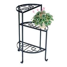 achla designs iris 315 in black indooroutdoor half round wrought iron plant achla designs wrought iron