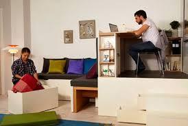 living room with bed: modern table ramus interior  bed matryoshka living room bedroom