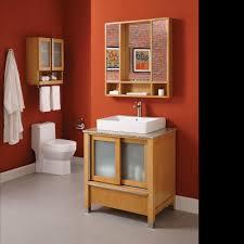light maple vanity modern bathroom