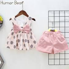 Humor Bear <b>2019 New</b> Grils Clothes Summer <b>Style</b> girl Big <b>Bow</b> T ...