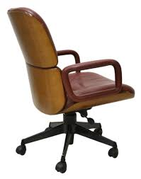 mid century parisi for mim leather office chair chair mid century office