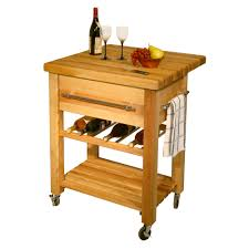 leaf kitchen cart: catskill grand island wine cart quotxquotxquot drop leaf butcher block top