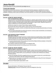 construction estimator resume    construction estimator resume