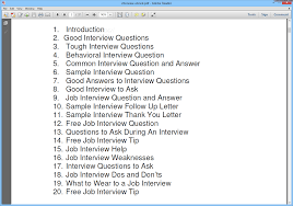 mock interview questions and answers