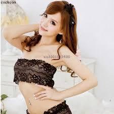 Black White <b>Sexy Lady Women Full Lace</b> Stretch Boob Tube Top ...