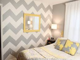 yellow and gray bedroom: cool teal gray and yellow bedroom