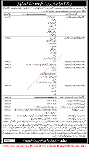 kpk rescue 1122 jobs 2015 recruitment test schedule shortlisted kpk rescue 1122 jobs 2015 recruitment test schedule shortlisted candidates lists