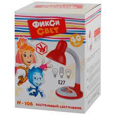 <b>Лампа настольная Эра Фиксики</b> красная 1хЕ27х40 Вт купить по ...