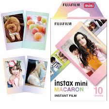 Original <b>Fujifilm</b> MACAROON macaron <b>Instax Mini</b> 8 film (10 sheets ...
