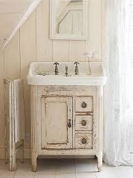 country bathroom colors:  accessories distressed white wall color for country styled bathroom decor using rustic mirror cabinet lovely