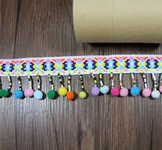 <b>2 yard 5cm</b> 2.16 <b>wide</b> colorful ball beads tassel fringe | Etsy