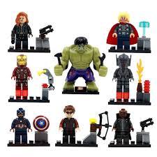 <b>8pcs</b> Super Heroes Marvel Avengers Military <b>Action</b> Figures ...