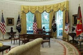 oval office white house. The Oval Office Of White House Is Seen After Renovations Including New Wallpaper August 22 E