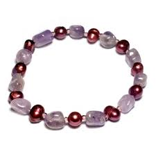 Amethyst & <b>Freshwater Pearl</b> Bracelet