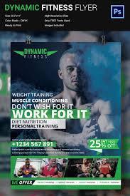fitness flyer psd format dynamic fitness flyer design