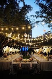 globe lighting outdoor wedding backyard wedding lighting