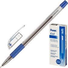 Купить <b>ручку гелевую PENTEL</b> K405С 0 25мм рез манж синий ст ...