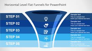 flat funnel powerpoint template slidemodel ppt funnel diagram