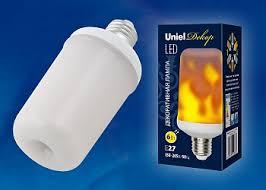 <b>LED</b>-<b>L60</b>-<b>6W</b>/<b>FLAME</b>/<b>E27</b>/<b>FR</b> PLD01WH <b>Лампа</b> светодиодная ...