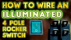How to wire an illuminated 4 Pole rocker switch KCD4 - by VOG ...