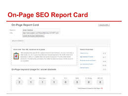 Sample seo report