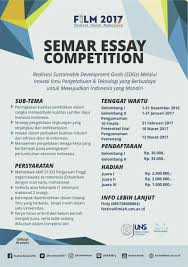 essay competition  semar essay competition lomba or id portal informasi lomba terbaru lomba