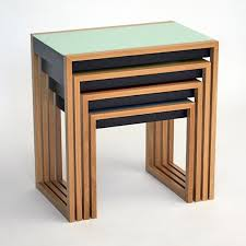 nesting furniture. bauhaus nesting tables furniture a