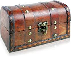 Wooden Treasure Chest - Amazon.co.uk