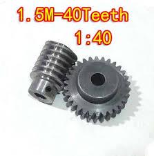 1.5M 40T <b>Reduction Ratio</b>:1:40 45Steel Worm <b>Gear</b> Reducer ...