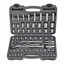 64 Pc <b>1/4</b> in., <b>3/8</b> in., <b>1/2</b> in. Drive SAE & Metric Socket Set