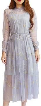 YOUMU <b>Women Summer Chiffon</b> Dress Stars Moon Print ...
