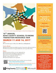 10th annual king county school to work transition resource fair 10th annual king county school to work transition resource fair 11 and 14