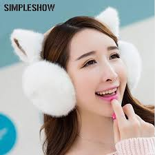 <b>New Fashion Cute</b> Ears <b>Plush</b> Comfortable Warm Earmuff ...