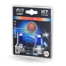 Комплект галогенных <b>ламп AVS ATLAS</b> H7 (A78570S) 5000К 12V ...