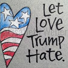Image result for Hate trumps love