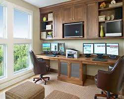 furniture desk home office designs the fashionable cream built in desk in the office room alluring home office