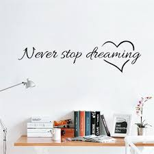 <b>Never Stop Dreaming Wall</b> Decal | Diy wall stickers, Rooms home ...
