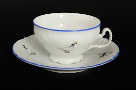 Купить <b>Набор чайных пар 250</b> мл Бернадотт Гуси (6 пар) по ...
