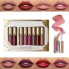 Waterproof <b>8Pcs Liquid</b> Lipstick <b>Set</b> Six <b>Matte</b> Shades & Two ...