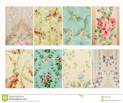 set of vintage french floral shabby floral chic walloper background samples chic shabby french style distressed